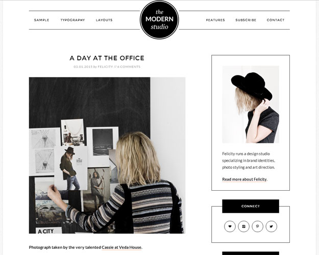 Modern Studio WordPress Theme