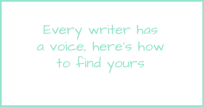 How to find your voice as a writer.